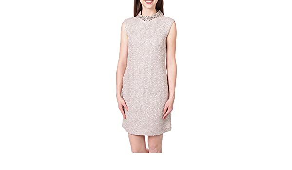 24df2227 Vince Camuto Boucle Sheath Dress with Embellished Neckline at Amazon  Women's Clothing store: