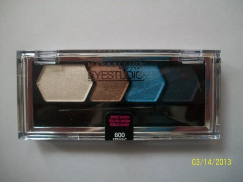 (Maybelline Limited Edition Color Goes Electric Collection Eyeshadow - 600 Striking Blue)