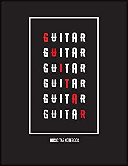 Amazon com: Guitar Tab Notebook: Blank Sheet Music, 100