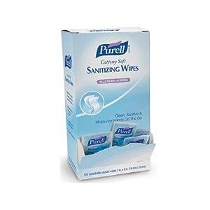 Purell GOJ902712BX 902712BX Cottony Soft Hand Sanitizing Wipes, Self-Dispensing Display Box (1 Box of 120)