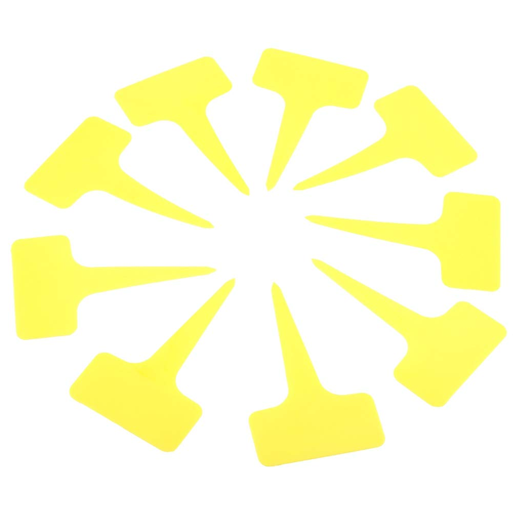50 UNIDS Etiquetas De Semillas De Plantas De Pl/ástico Tipo T Etiquetas De Plantas Marcadores Impermeables Guarder/ía Jard/ín Etiquetas para Jard/ín C/ésped Suministros Amarillo