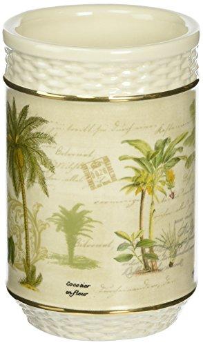 (Avanti Linens Colony Palm Tumbler, Ivory)