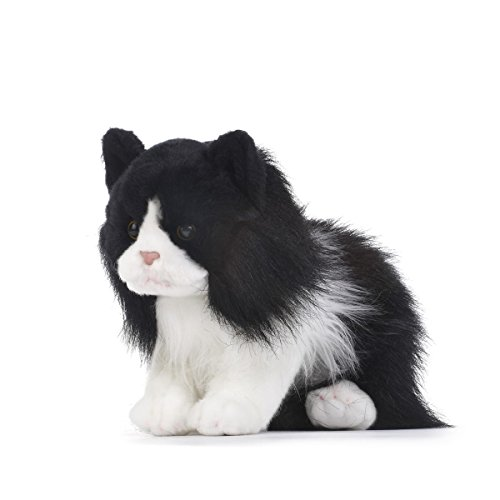 Nat and Jules Sitting Tuxedo Cat Classic Black And White Children's Plush Stuffed Animal - Black White Cat