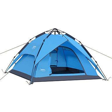 3-4 Personen-Zelt-Doppelt-Camping-Zelt-Im Freien Automatisches Zelt Wasserdichtes Regen-Beweis Für Das Kampieren 2000-3000 Millimeter Oxford
