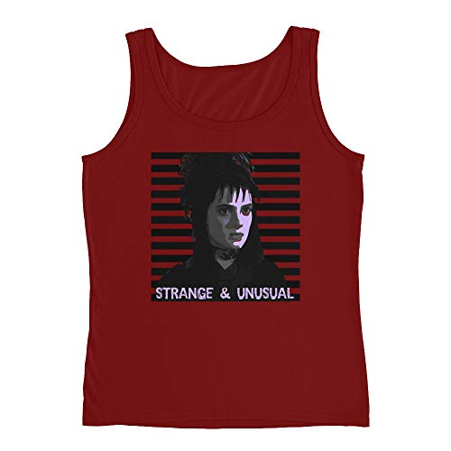 Lydia Deetz from Beetlejuice Ladies Missy Fit Ringspun Tank Top with Tear Away Label -