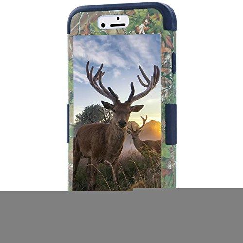 """Iphone 6 Coque,Iphone 6S 4.7 """"Coque,Lantier luxe Triple couche hybride modèle d'arbre Camo Combo souple en silicone + Disque PC Protecteur pour Apple Iphone 6 / 6S 4.7"""" Forêt Noire"""
