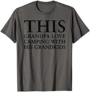 Cool gift This Grandpa Love Camping With His Grandkids Camping  Women Long Sleeve Funny Shirt