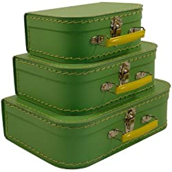 cargo Vintage Travelers Mini Suitcases, Set of 3, Soft Green