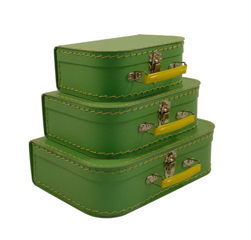 - cargo Vintage Travelers Mini Suitcases, Set of 3, Soft Green