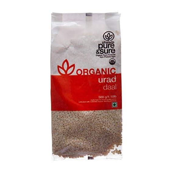 Pure & Sure Organic Urad Dal Split, 500g