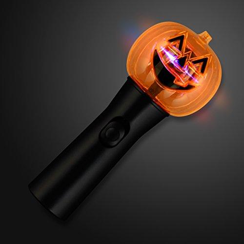 Light Up Pumpkin Spinning LED Wand]()