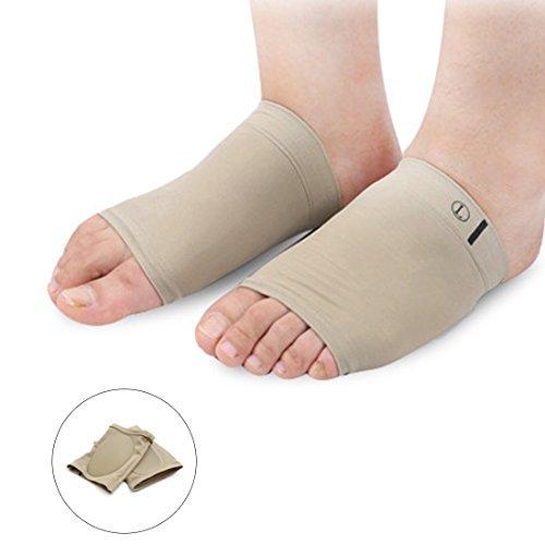 eDealMax 1 par elstico cuidado de Los pies del arco Plantar vendaje de silicona Soporte de Color de la piel