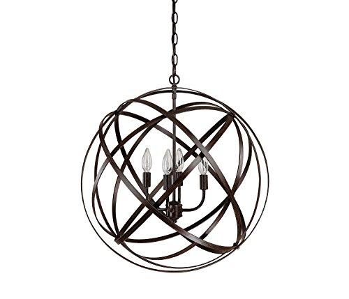 Black Sphere Pendant Light in Florida - 3