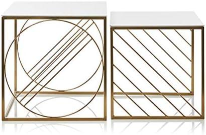 Beperk De Aanbieding Goedkoop Eenvoudige Creatieve Vierkante Tafel Moderne Ijzer Hoek Display Stand Salontafel Zonder Montage Nesting Salontafel 4.11 (Size : Set of 2) 0WhxcrQ
