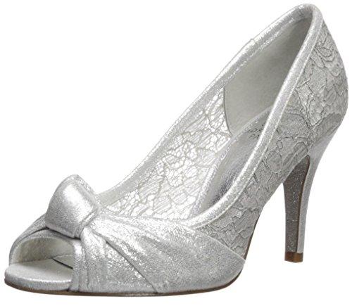 Adrianna Papell Women's Francesca Pump, Silver Mosaic Lame, 8 M US
