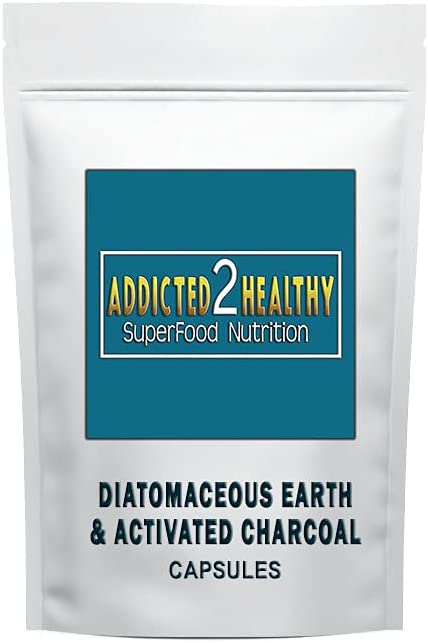 120 Diatomaceous Earth & Activated Charcoal Capsules - Exclusive Formula