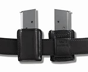 Galco Concealable Magazine Case for 9mm, .40, .357 Sig Staggered Polymer Magazines and S&W M&P 9mm, .40 Metal Magazines (Black, Ambi)
