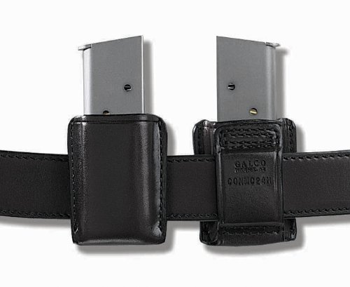 Galco Concealable Magazine Case for 9mm.40.357 Sig Staggered Metal Magazines (Black, Ambi)