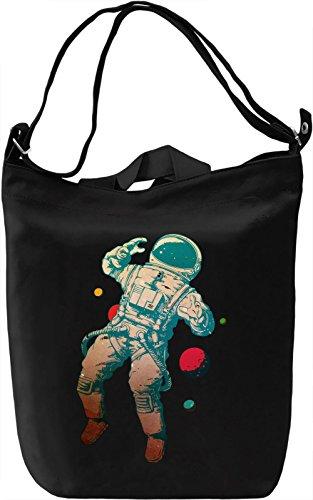 Astronaut Borsa Giornaliera Canvas Canvas Day Bag| 100% Premium Cotton Canvas| DTG Printing|