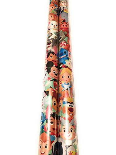 Disney Movie Classics Alice in Wonderland, LILO & Stitch, Lion King, Dumbo, Peter Pan and More Gift Wrapping Paper - 20 sq ft -