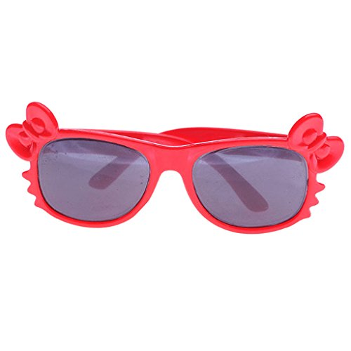 MonkeyJack Fashion Dolls' Glasses Sunglasses DIY Clothing Making & Repair for 18 inch American Girl/Journey/Baby Born Dolls Red - Sunglasses Diy