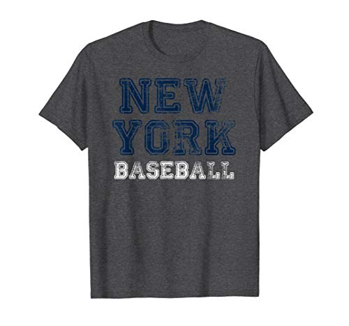 New York Distressed Pro Baseball Team Championship T-Shirt ()