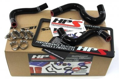HPS (57-1223-BLK) Black Silicone Heater Hose Kit for Toyota Corolla AE86