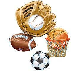 alloon Basketball Baseball Soccer Football 32 Inches ()