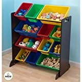 KidKraft Sort It and Store It Bin Unit-Espresso