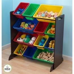 KidKraft Sort It And Store It Bin Unit - Espresso (Kids Storage Bin Unit compare prices)