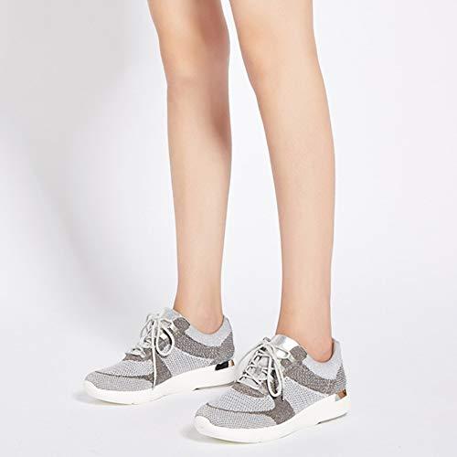 Cordones Senderismo Caminando Planas Para Zapatillas R Flyknit De Al Con Grey Mujer Trainers Damas Gym De YR Deporte Para Correr Libre Zapatillas Aire Mesh xIUYHwHq
