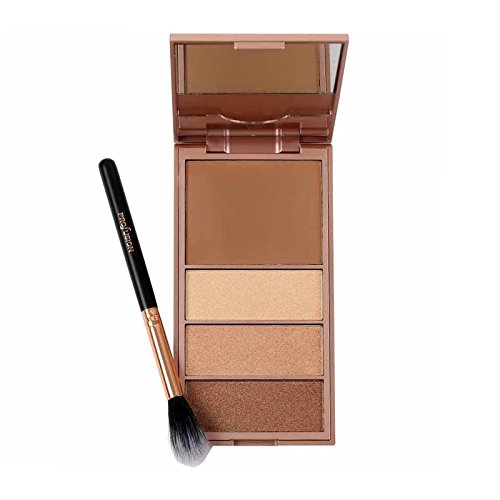 PROFUSION Glamour Bar Bronzer & Luminizer Palette And Setting Brush