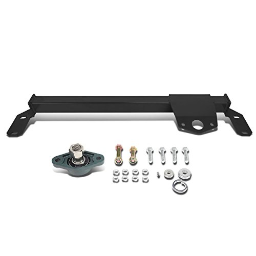 DNA Motoring Black BRR-010-BK Steering Box Stabilizer Bar [for 03-08 Dodge Ram 2500 3500 4WD]