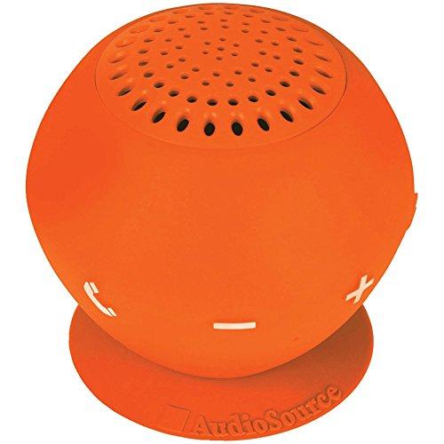 AUDIOSOURCE SP2ORA Sound pOp 2(TM) Water-Resistant Bluetooth(R) Speaker (Orange) Computers, Electronics, Office Supplies, Computing