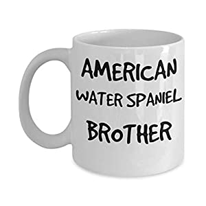 American Water Spaniel Brother Mug - White 11oz 15oz Ceramic Tea Coffee Cup - Perfect For Travel And Gifts 16