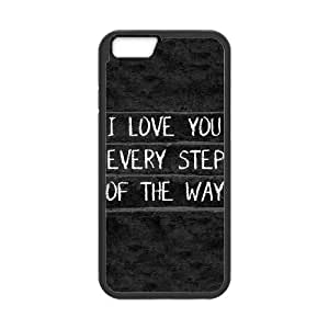 iPhone 6 Plus 5.5 Inch Phone Case Black I Love You Every Step Of The Way TT9I9QNK Tactical Cell Phone Case