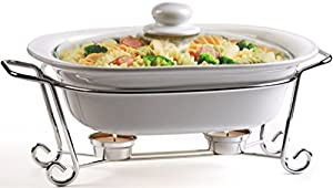 Amazon Com Circleware Ceramic Cookware Chafer Buffet