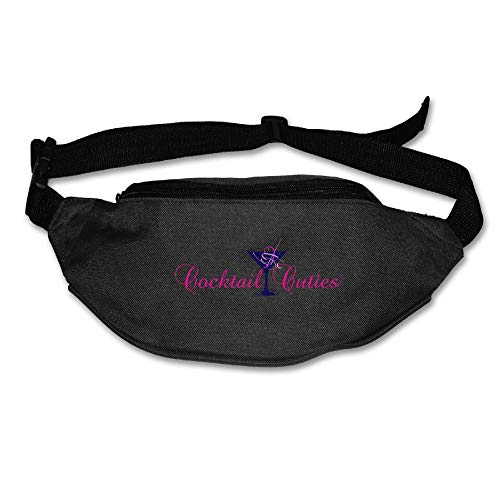 Gkf Waist Fanny Pack Cocktail Cuties Running Sport Bag For Outdoors Workout Cycling]()