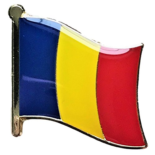 (Backwoods Barnaby Romania Flag Lapel Pin/International Travel Pins with Gold Clasp by (Romanian broach, 0.75