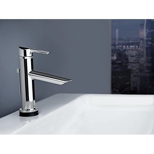 best Delta 561T-DST Compel Single Lever Handle Bathroom Faucet with Touch2O. Technology, Chrome