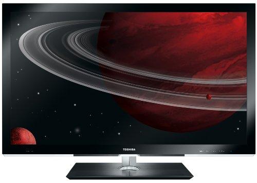 Toshiba 40WL768G 101,6 cm (40 Zoll) Slim 3D-LED-Backlight-Fernseher (Full-HD, 200Hz, DVB-T/-C/-S, WLAN, inkl. 3D Brille) schwarz