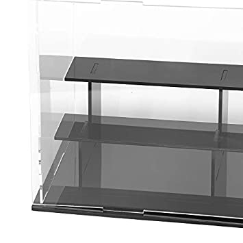 Lanscoe 3 Steps Clear Acrylic Display Case Countertop Box Cube Organizer Stand Dustproof Protection Showcase for Action Figures Toys Collectibles, 9.5×5.5×6.3 Inch 24x14x16cm
