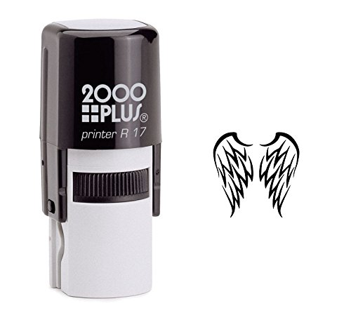StampExpression - Angel Wings Self Inking Rubber Stamp - Black Ink (A-6160)