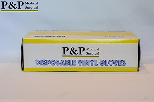 Vinyl Gloves Disposable Medical Exam Powder Latex Free (1 Case= 1000 gloves) X-Large by P&P Medical Surgical (Image #4)