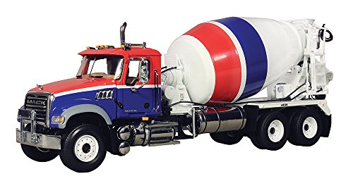 (First Gear 1/34 scale Diecast Collectible Red/White/Blue Mack Granite with McNeilus Standard Mixer (#10-3995))