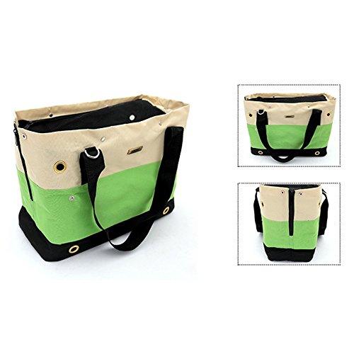 LIly's Pet Carrier Hand or Shoulder Soft-side Travel Bag for Pet Dog Cat Fit Maximum 11lb Mesh Top Eight Convection Holes Dog Purse Top Nylon Lightweight Tote Traveling Hiking Outdoor Carrier