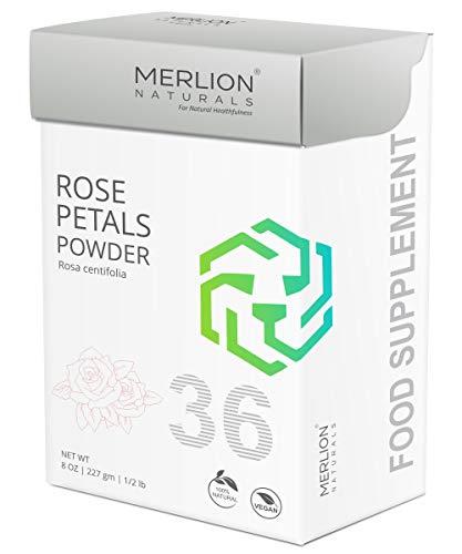 (Rose Petals Powder by Merlion Naturals | Rosa centifolia | 227gm/ 8OZ/ 1/2lb | 100% Natural)