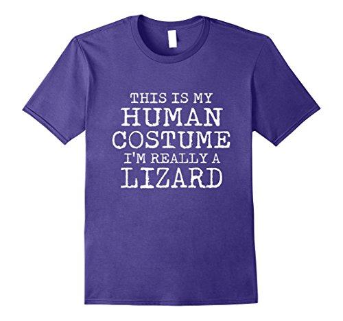 Purple Lizard Costume (Mens LIZARD Halloween Costume shirt Easy for Men, Women Medium Purple)