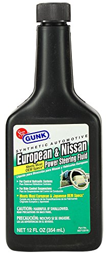 Gunk M2712SYN-12PK Synthetic European & Nissan Power Steering Fluid - 12 oz., (Case of 12) by Gunk