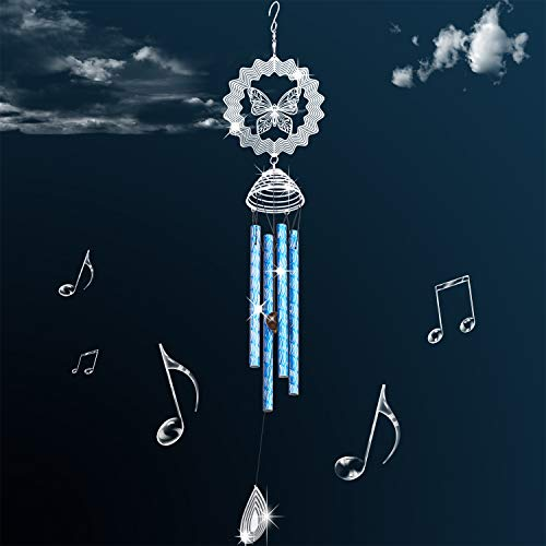 HoneForest Wind Chimes, Beautiful Sounds and Elegant Design, Metal Butterfly Wind Chime, Decor for Outdoor Indoor(29'')